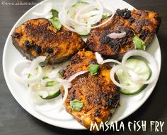Masala Fish Fry recipe from Jay's Space, I was too tempted to try it out soon and bookmarked long ago. Last sunday...
