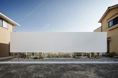 moderne minimalistische Architektur einstöckiges Haus Steingarten
