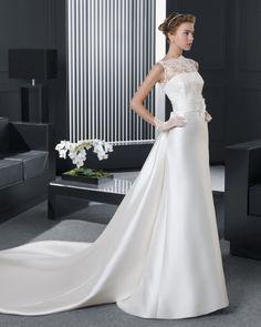 チャーミング イリュージョン ホール A ライン ブライダルドレス ウェディングドレス Hro0153