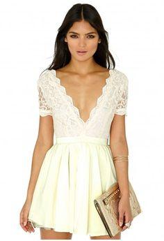 8a9583376f Aleena Lace Plunge Neck Puffball Dress - Dresses - Mini Dresses - Missguided  Cheap Dresses