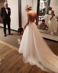 Amazing bridal preparation moment beautifully captured Double tap & TAG your g… – Wedding Day Ready Dream Wedding Dresses, Prom Dresses, Wedding Dress Train, Spagetti Strap Wedding Dress, Wedding Goals, Dream Dress, Perfect Wedding, Wedding Inspiration, Wedding Photography