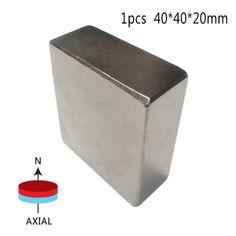 1ピースブロック40 × 40 × 20ミリメートルn52スーパーストロング希土類磁石ネオジム磁石高品質