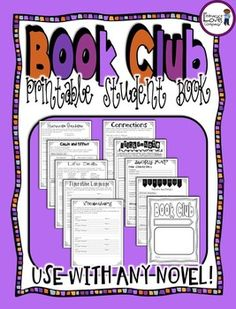 Book Clubs {3rd - 5th Grade}CCSS Aligned Book Clubs are a great way to keep your students motivated to read, encourage independence and responsibility, and support and meet the Common Core Standards for reading, language, and speaking and listening.  $