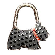 YOKIRIN Schwarz Punkt Elfenbein Hund RZinklegierung Dekorative Taschenhaken & Handtaschenhalter als perfekte Geschenkidee für Frau, Freundin, Mutter und Tochte