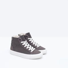 LINED BASKETBALL BOOTS WITH ZIP from Zara