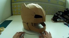 Dali-Lomo: Armored Batman aka Mech Suit Helmet DIY (free PDF template)