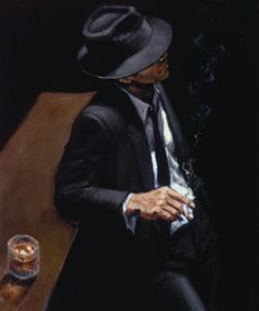 Artist Fabian Perez expresses his love for the female form through some of the most romantic and sensual impressionist paintings you will find anywhere. Fabian Perez, Black Suits, Black Men, Michael Lang, Illustration Photo, Jack Vettriano, Panel Wall Art, Bathroom Wall Art, Contemporary Wall Art