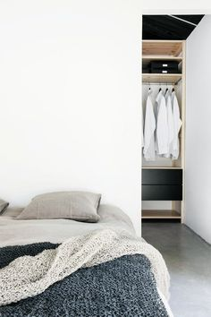 Bed and closet | Scandinavian Deko, July 2013