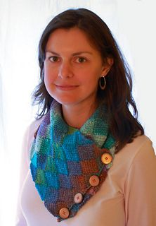 Ravelry: Tunisian Crochet Entrelac Scarf and Neck Warmer pattern by Misty Pursel