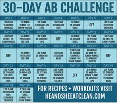 30-Day Ab Fitness Challenge