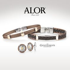 Now that the mothers have been spoiled, it is time to start thinking about the special man in your life! With Father's Day right around corner, celebrate Dad with the gift of handsome cable bangles and distinct cufflinks from the ALOR Gentlemen's Collection. alorsince1979