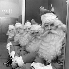 "Ho Ho Ho!  hollyhocksandtulips: ""Department store Santas, 1948 Photo by Nina Leen """