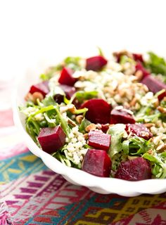 GARLIC LEMON MILLET AND BEET SALAD via A House in the Hills