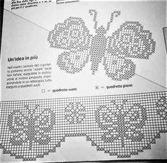 Filet Crochet, Beading Patterns Free, Free Pattern, 3d Paper, Butterfly, Basket Weave Crochet, Tricot Crochet, Butterflies, Knitting Stitch Patterns