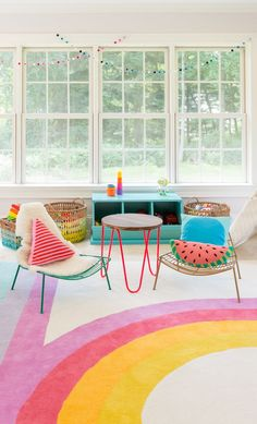 By combining whimsical and boho-inspired elements into the kid's room, it struck the balance of creating a fabulous environment that appeals to all ages.