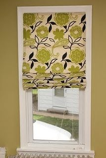 No Sew Roman Shades - What a great Idea! diy-diy-diy