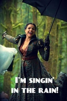 Regina/Evil Queen: I'm singing in the rain! Funny photos of Once Upon a Time.