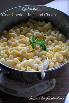 Gluten-Free Goat Cheddar Mac and Cheese - Kid friendly, and NO cow dairy! -Creamy and delicious. - The Nourishing Gourmet