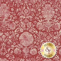 "Joyeux Noel 13711-11 Rouge Pearl by French General for Moda Fabrics: Joyeux Noel is a collection by French General for Moda Fabrics. This fabric features a cream floral and vines on a red background. Width: 43""/44""Material: 100% CottonSwatch Size: 6"" x 6"" Expected Arrival Date Is May 2015"