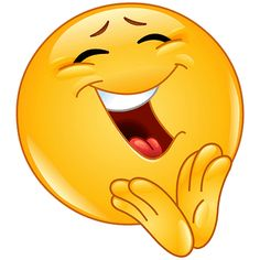 emoticon of a clapping and cheerful smiley Smiley Emoji, Funny Smiley, Emoticon Faces, Funny Emoji Faces, Funny Emoticons, Smiley Faces, Emoji Pictures, Emoji Images, Excited Emoji