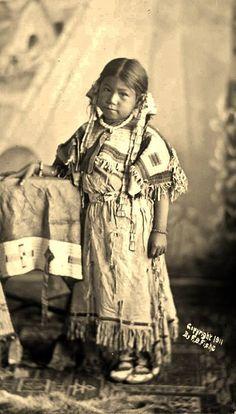Susan Brave, (the daughter of Chase The Bear, or Chasing Bear, or Paul Brave) - Hunkpapa Lakota/Sihasapa Lakota - 1911