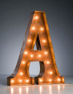 Vintage Marquee Lights Letter A by VintageMarqueeLights on Etsy