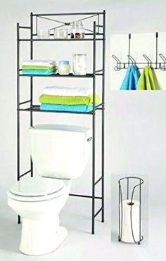 Over The Toilet Bathroom Organizers over toilet storage cabinet bathroom space saver cubby organizer