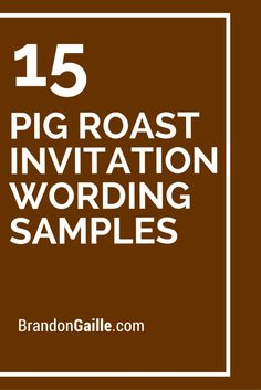 11 perfect pool party invitation wording ideas messages and 15 pig roast invitation wording samples stopboris Choice Image