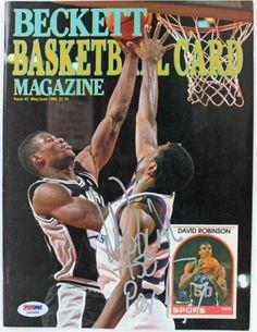 Spurs David Robinson Authentic Signed 1990 Beckett Magazine PSA/DNA #S80888