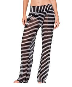 d73e8c4a17de Anne Cole Black & White Stripe Semi-Sheer Mesh Pants. Anne Cole SwimwearMesh  ...