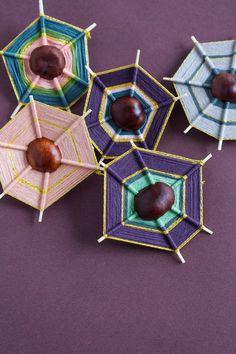 Weaving with Chestnuts Autumn Crafts, Nature Crafts, Diy And Crafts, Crafts For Kids, Arts And Crafts, Land Art, Autumn Activities, Activities For Kids, Indoor Activities