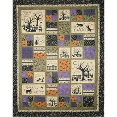 Black Cat Crossing Quilt Fussy the big pieces Halloween Quilts, Halloween Quilt Patterns, Halloween Sewing, Fall Sewing, Halloween Fabric, Halloween Crafts, Halloween Ideas, Happy Halloween, Christmas Crafts
