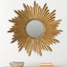 Safavieh Josephine Sunburst Mirror, Antique Gold