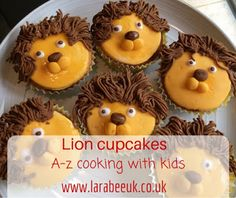 LarabeeUK: |FOOD|A-Z cooking with kids - Lion cupcakes