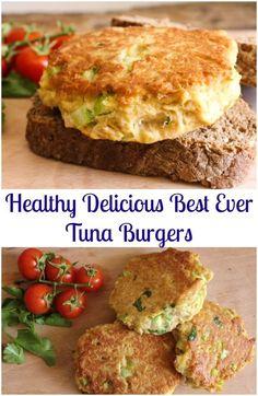 Healthy Delicious Best Ever Tuna Burgers