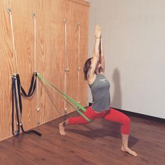 Busted out the big bands today for Ashta Chandrasana on the rope wall