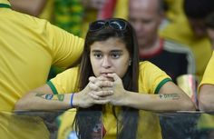 Pin for Later: People Who Are Sadder About the Brazil vs. Germany Game Than You Are This Young Lady
