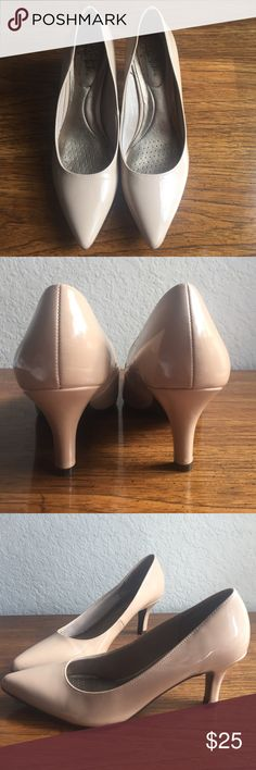 """Nude Pumps """"life stride-soft system"""" Worn only once to a job interview. Super comfy insole has thicker cushion than normal heels. Heel is 2 1/2 inches. Looks cute with jeans and formal wear! Life Stride Shoes Heels"""
