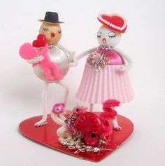 Vintage Valentines Day Couple in Love Valentines by teresatudor, $19.00
