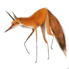I love drawing foxes. . . . #characterdesign #artistsofinstagram #instaart #animation #drawing #art #sketch #design #stylized #visdev #caricature #cartoon #digitalart #illustration #wildlife #painting #fox  nathanjnp