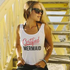 Certified Mermaid Baby Crop Tank. Our Baby Crop Tank shows off your freshest tan with a shorter, fitted crop cut, ribbed neckline and slim straps. Skin is always in, so don't be afraid to strut your stuff. Fits true to size.