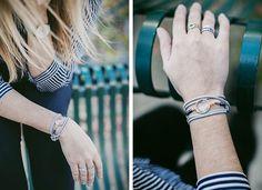 DIY bracelet boho suedine et ses perles
