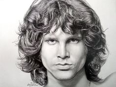 58-2000 Jim Morrison 5-2-2014 by SolyiKim | First pinned to Celebrity Art board here... http://www.pinterest.com/fairbanksgrafix/celebrity-art/ #Drawing #Art #CelebrityArt