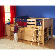 Low Loft Bed with Storage love this... Going on the hunny do list! I'm sure my hubby can figure out how make one of these