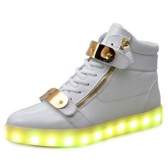 adffb23375bd8 7 Colors Unisex Led Luminous Light Shoes Men Women Fashion USB rechargeable  Light Led Shoes for Adult Black White