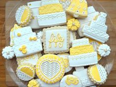 Yellow 50th cookies