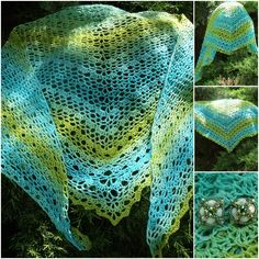 Crochet Triangle Shawl, Free pattern: http://gosyo.co.jp/english/pattern/eHTML/ePDF/1204/3w/210-211-34_Triangle_Shawl.pdf