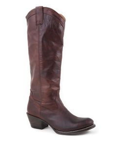 Stetson Boots Women's Brown Burnished Ficcini Cowgirl Boot  http://www.countryoutfitter.com/products/36900-womens-brown-burnished-ficcini-boot