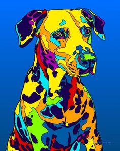 Multi-Color Dalmatian Dog Breed Matted Prints & Canvas Giclées