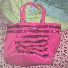 VS sparkly tote bag Hardly used PINK Victoria's Secret Bags Totes